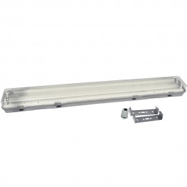 Pantalla estanca 2x1500 mm ABS para tubos led