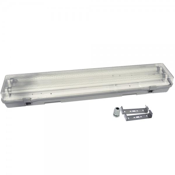 Pantalla estanca 2x600 mm ABS para tubos led