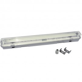 Pantalla estanca 1x600 mm ABS para tubos led