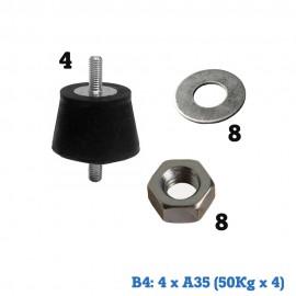 Bolsas de montaje para splits Amortiguación 4xA35