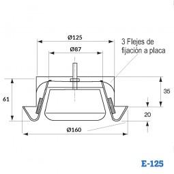 Boca de extracción de plástico BALANCE E-125