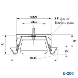 Boca de extracción de plástico BALANCE E-200