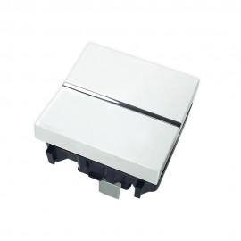Conmutador 2 módulos blanco Zenit Niessen