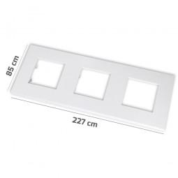 Marco básico 3 ventanas 2 módulos blanco Zenit Niessen