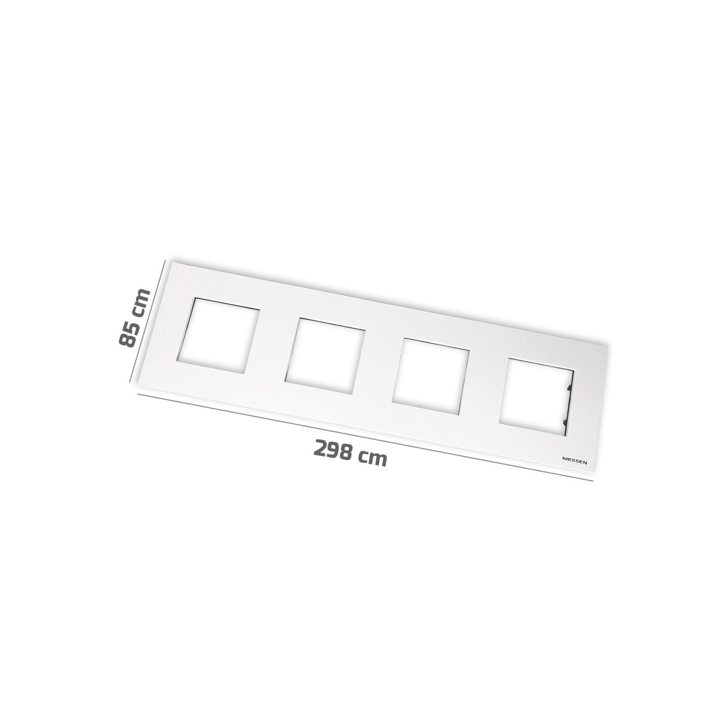Marco b sico 4 ventanas 2 m dulos blanco zenit niessen - Mecanismos niessen zenit ...