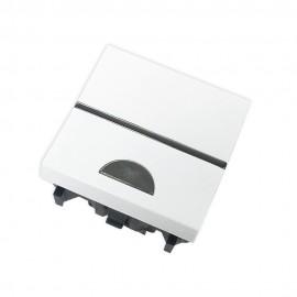 Pulsador simbolo luz 2 módulos blanco Zenit Niessen