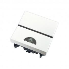 Pulsador simbolo timbre 2 módulos blanco Zenit Niessen