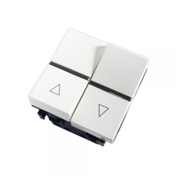 Doble pulsador persianas blanco Zenit Niessen