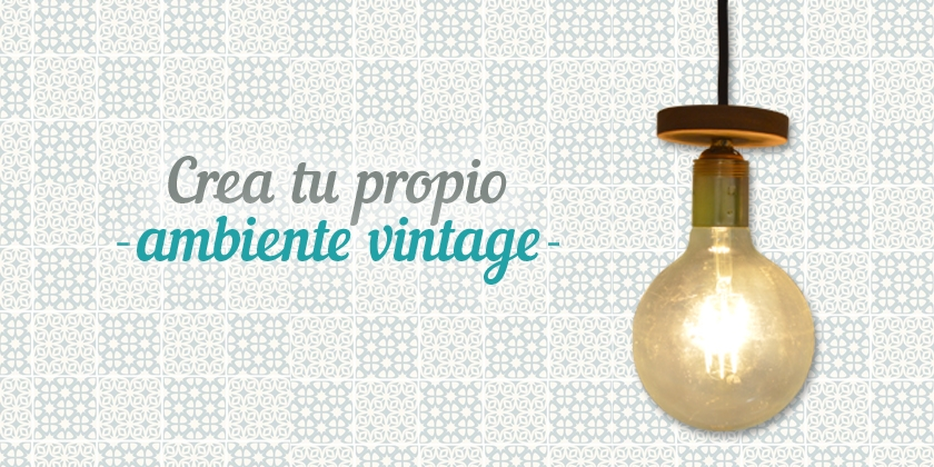 como montar tu propia lampara vintage