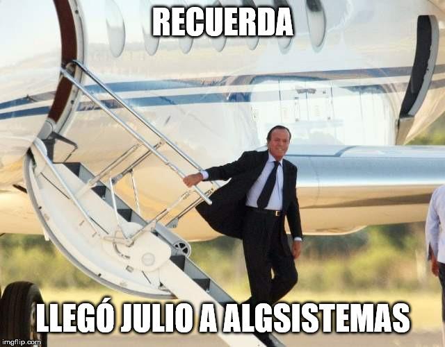 Llegó Julio a ALGSISTEMAS