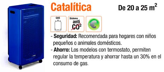 Estufas de gas catalíticas