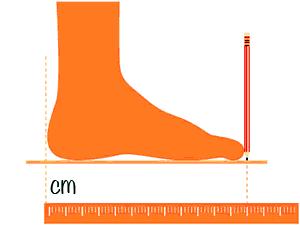como medir el pie